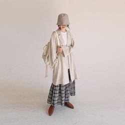 nature mood long linen jacket (2colors)