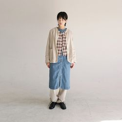 oriental mood linen cardigan (beige)