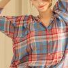 로센스:LOSENSE 루즈핏 체크 셔츠