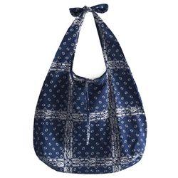 navy ethnic bag