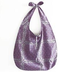 violet ethnic bag