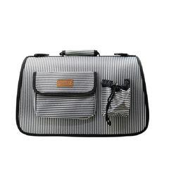 피플펫 천국 스포츠 이동가방 줄무늬 그레이L이동가방애견가방