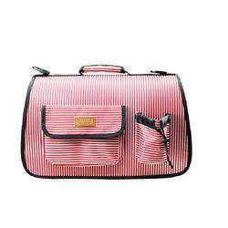 피플펫 천국 스포츠 이동가방 줄무늬핑크M이동가방애견가방
