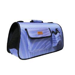 피플펫 천국 스포츠 이동가방 줄무늬 블루M이동가방애견가방