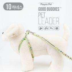 굿버디스 하네스 세트 10mm(색상랜덤)목줄가슴줄애견하네스