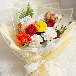 오렌지카네이션꽃다발 58cm P  조화 FAICFT
