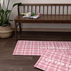 핑크버블캔디 45x130cm 발매트 욕실매트 주방매트