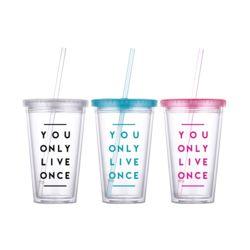 [무료배송] 욜로 아이스빨대 텀블러 콜드컵