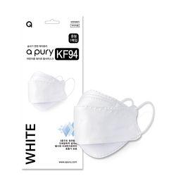 에이퓨리 a pury KF94 미세먼지 일회용 마스크 어린이용 화이트