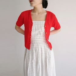 needle point knit cardigan (2colors)