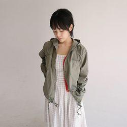 string hood jacket (khaki)