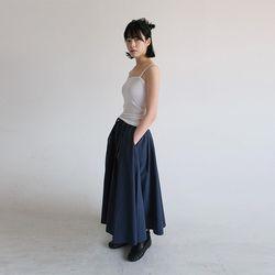 waist pleats a-line skirt (2colors)