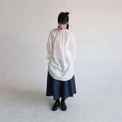 avant-garde china neck blouse (2colors)