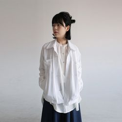 pocket shirts linen jacket (2colors)