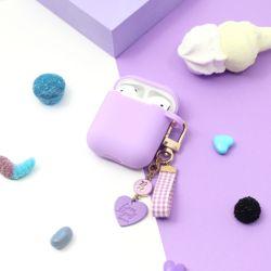 [선물포장] 탄생석 별자리 에어팟 케이스 키링 세트 라벤더