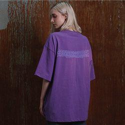 [20수] 헤비 오버핏 CPN 자수 로고 티셔츠 라이트퍼플