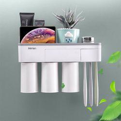 멀티 칫솔꽂이 양치컵 수납홀더세트 2컵홀더