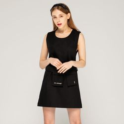 포켓 드레스 (블랙)