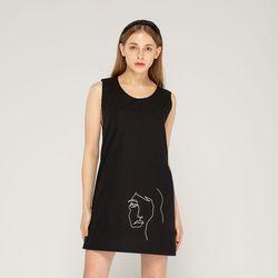 드로잉 드레스 (블랙)
