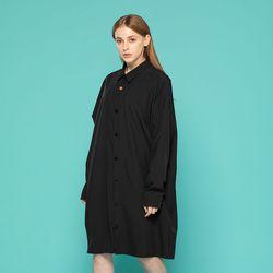 롱 셔츠 (블랙)