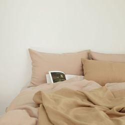 멜로우 린넨 베딩-pink beige(Q-풀세트)