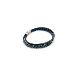 [오뜨르뒤몽드] vintage woven leather men bracelet