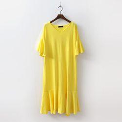 Frill V-Neck Dress