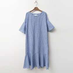 Check Flare Dress