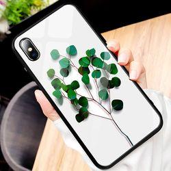 나뭇잎 강화글라스 케이스(아이폰78)