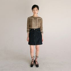 salvage denim mini skirt