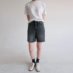 cut-off vintage mood short pants (2colors)