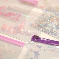 Pinky holic clear pouch S