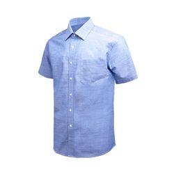 프리 라인 블루 레귤러 반팔 셔츠DW37-23