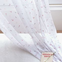 [Curtain] 끌라떼 디자인 쉬폰 커튼 캔디플라워