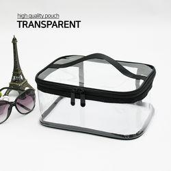 투명 메이크업 파우치 사각 대형