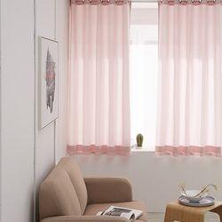위드미 솔리드 무지 레이스 아일렛커튼(130x170)2장 창문형