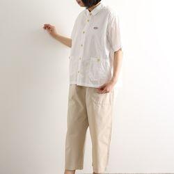 노던트럭: 고밀도 워싱 코튼 아메카지 셔츠 자켓 (화이트)