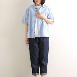 노던트럭: 고밀도 워싱 코튼 아메카지 셔츠 자켓 (블루)