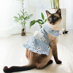 몽페레 끌레르 스트라이프원피스 (Pure Blue)