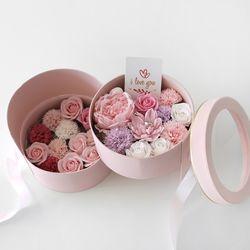 핑크작약 & 카네이션 2단 플라워BOX-풀패키지
