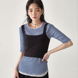 minimal crop top sleeveless