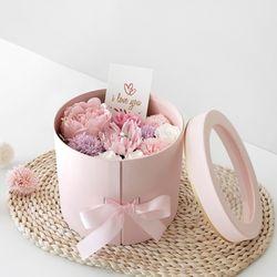 핑크작약 & 카네이션 2단 플라워BOX-하프패키지