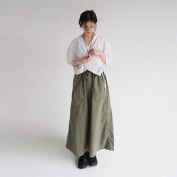 vintage cotton long skirt (3colors)