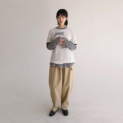 banding cotton pants (3colors)
