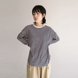 stripe over tee (3colors)