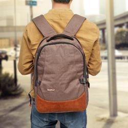 브라운 심플 노트북가방 배낭