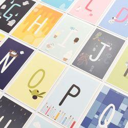 알파벳 포스트카드 엽서