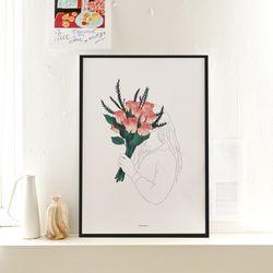 꽃다발 메탈 액자. 포스터 액자 (A3사이즈)