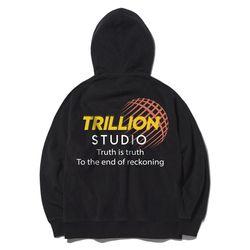 트릴리온 인터내셔널 오버핏 후드티 TR9SHT002 (BLACK)