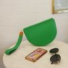 Rma. Half moon clutch bag  - L.green